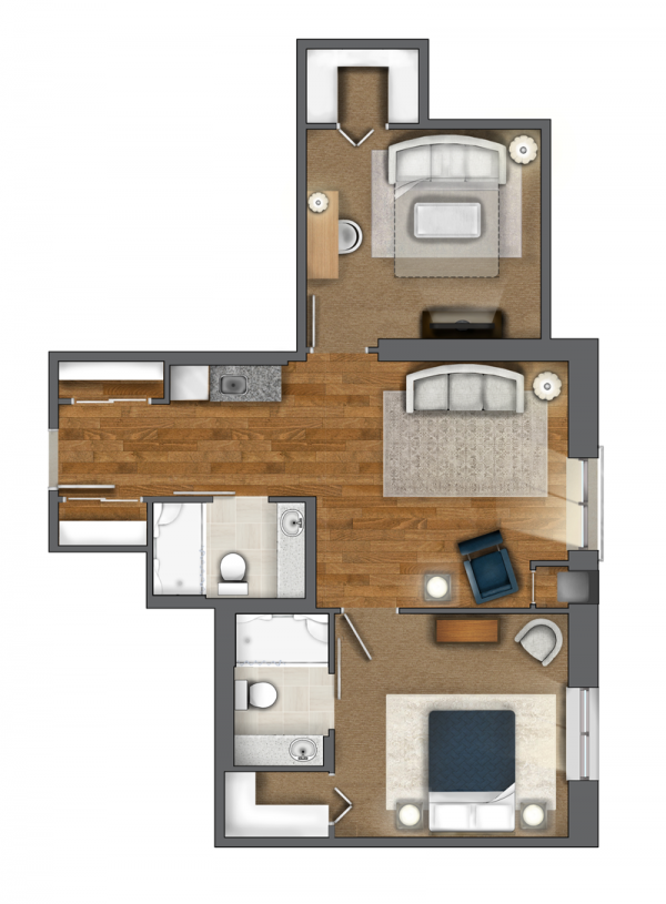 One Bedroom + Den